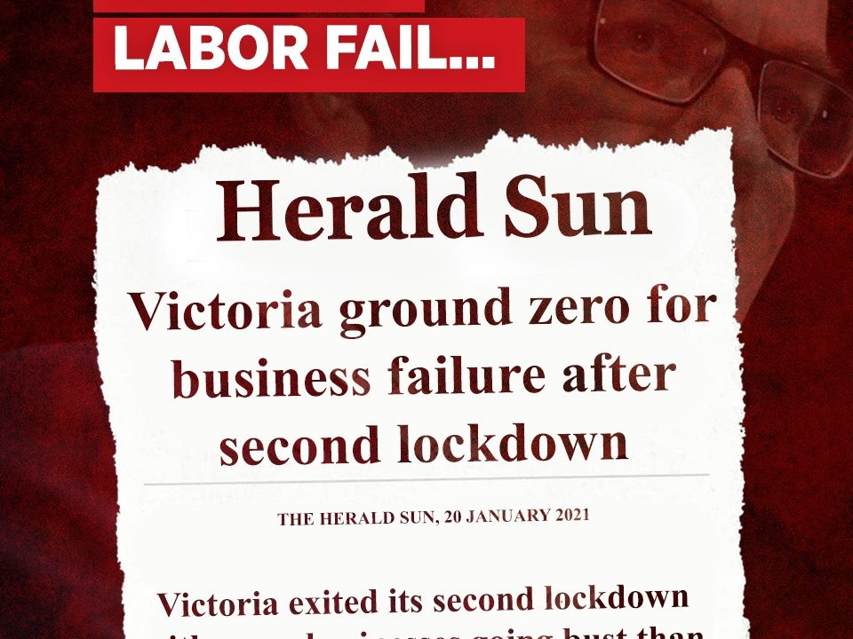 Labor's not up to the job of getting Victorians into a job
